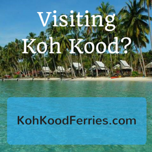Passenger information for boats to Koh Kood and Koh Mak.