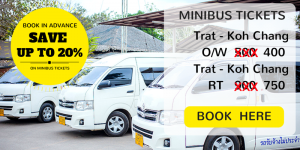 Bangkok Airways minibus from Trat Airport to your hotel on Koh Chang. Book tickes in advance and save 20%