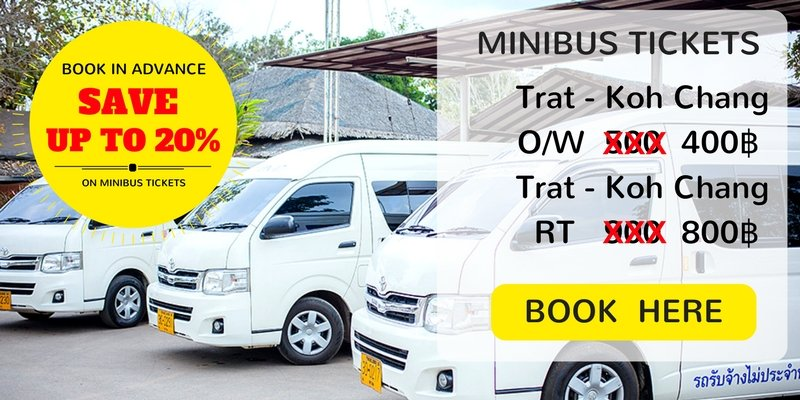 Book minibus tickets from Trat to Koh Chang