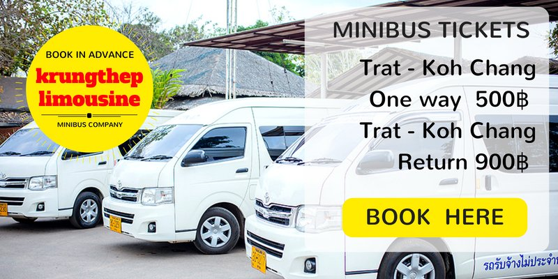 Book minibus tickets from Trat Airport to Koh Chang here