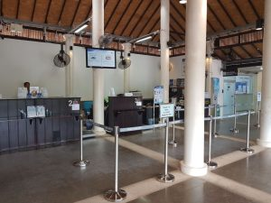 Check in counters at Trat Airport